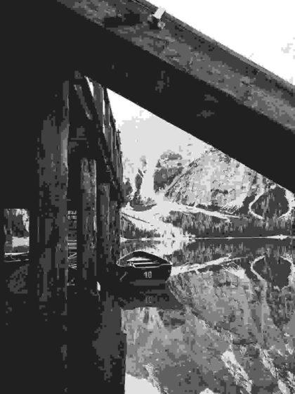 Boats under pier